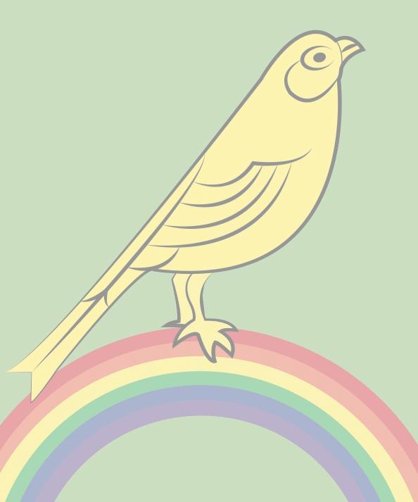 1Proud Canary semitransparent Watermark