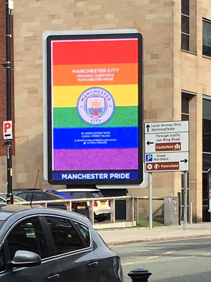Manchester City Proudly Supports Pride