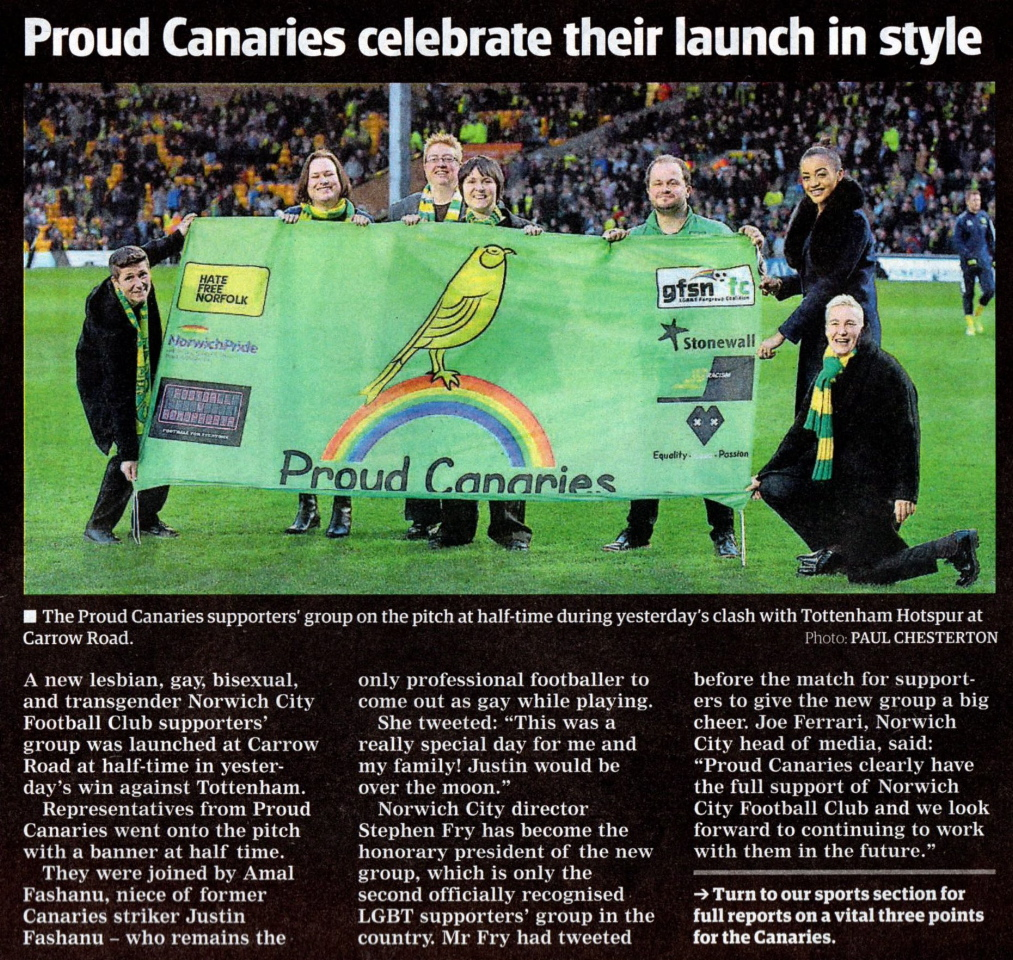 Proud canaries in paper