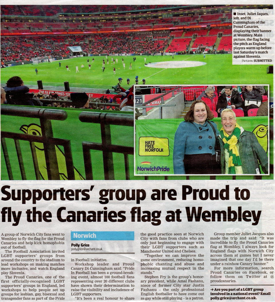 proud canaries wembley